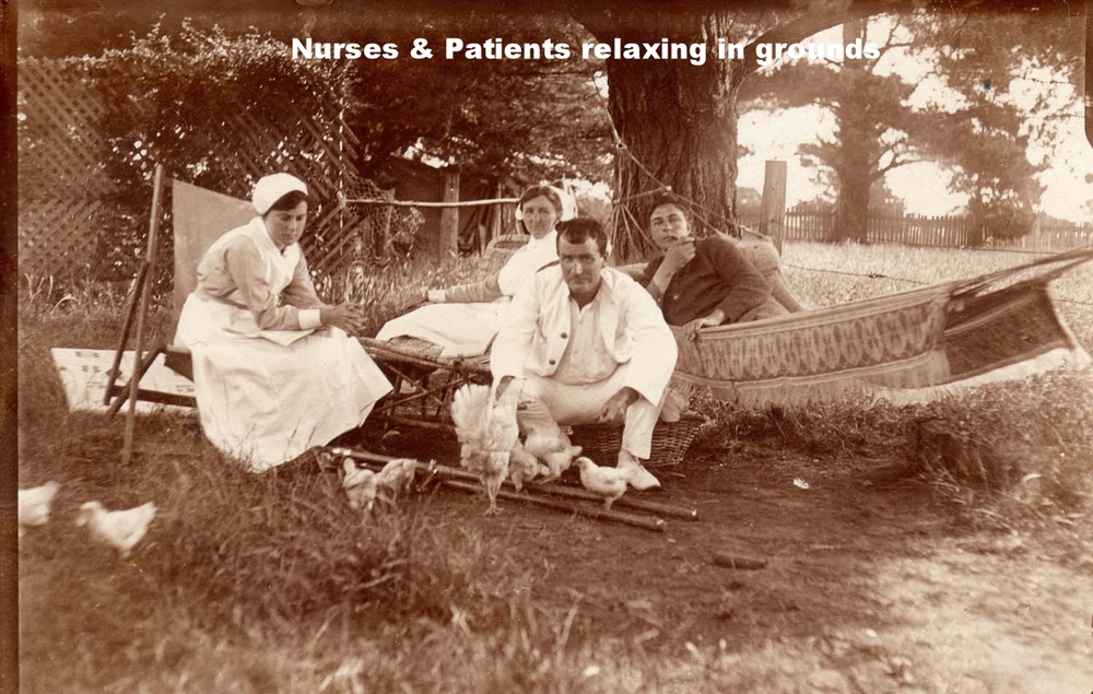 Nurses and patients relaxing in the grounds of Burradoo Convanescent HospitaL C.jpg