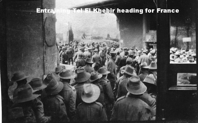Entraining Tel El Khebir heading for France.jpg