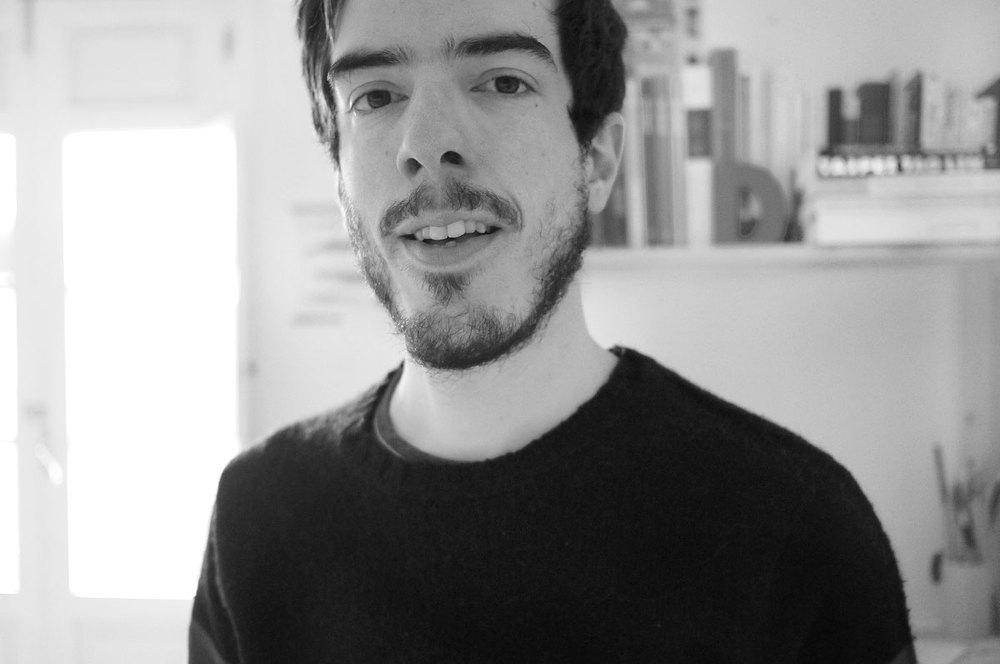 Javier Arce en su estudio en Madrid.