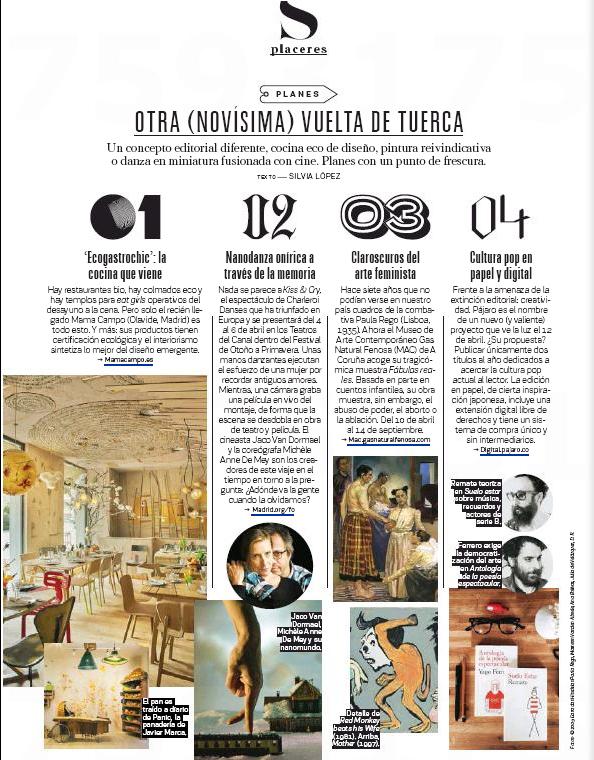 Revista S-Moda (El País), Abril 2014