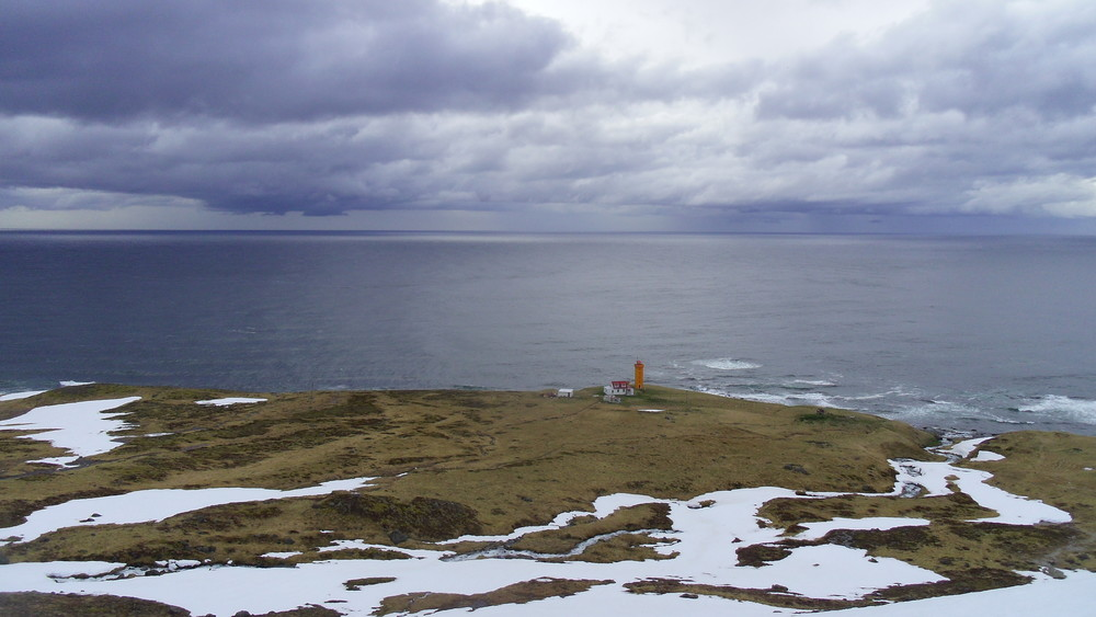 Moody skies in spring, Keflavik lighthouse from a recce on a part of the North Section