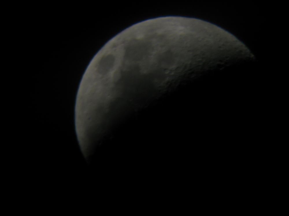 Moon (using home made telescope)