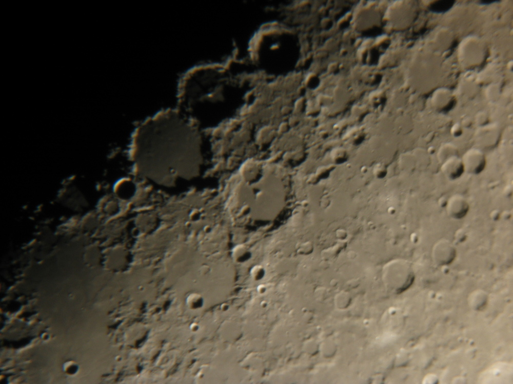 Image Details    Date:  March 28, 2004  Author:  Tim Doucette  Telescope:  C9.25  Mount:  Celestron AS-GT  Camera:  Canon Powershot S45  Site:  Moncton  Exposure:  1/13 sec  Effective Focal Length:  21.3 mm  Effective Focal Ratio:  f/4.9      Description   Taken through the eyepiece (15mm I think) of my C9.25