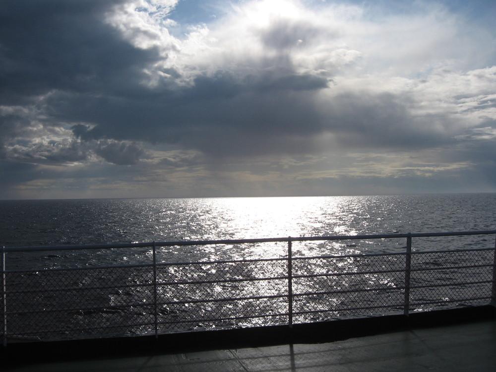 Ferry Ocean Scene