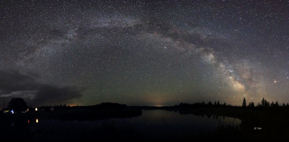 The Milky Way above the Quinan River not far from the Dome.