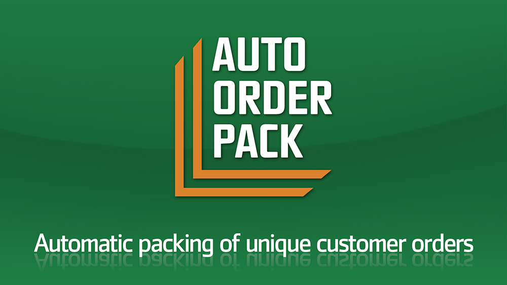 Logotyp för Auto Order Pack, en robotlösning från SpecialTeknik.