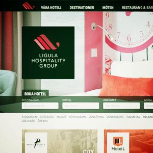Den nya hemsidan för Ligula Hospitality Group och alla underliggande hotellkedjor är live!