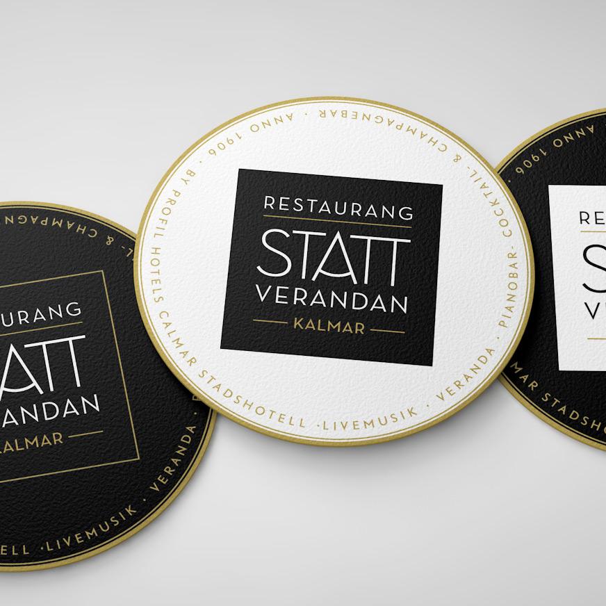 Ny grafisk identitet för Restaurang Statt Verandan i Kalmar.