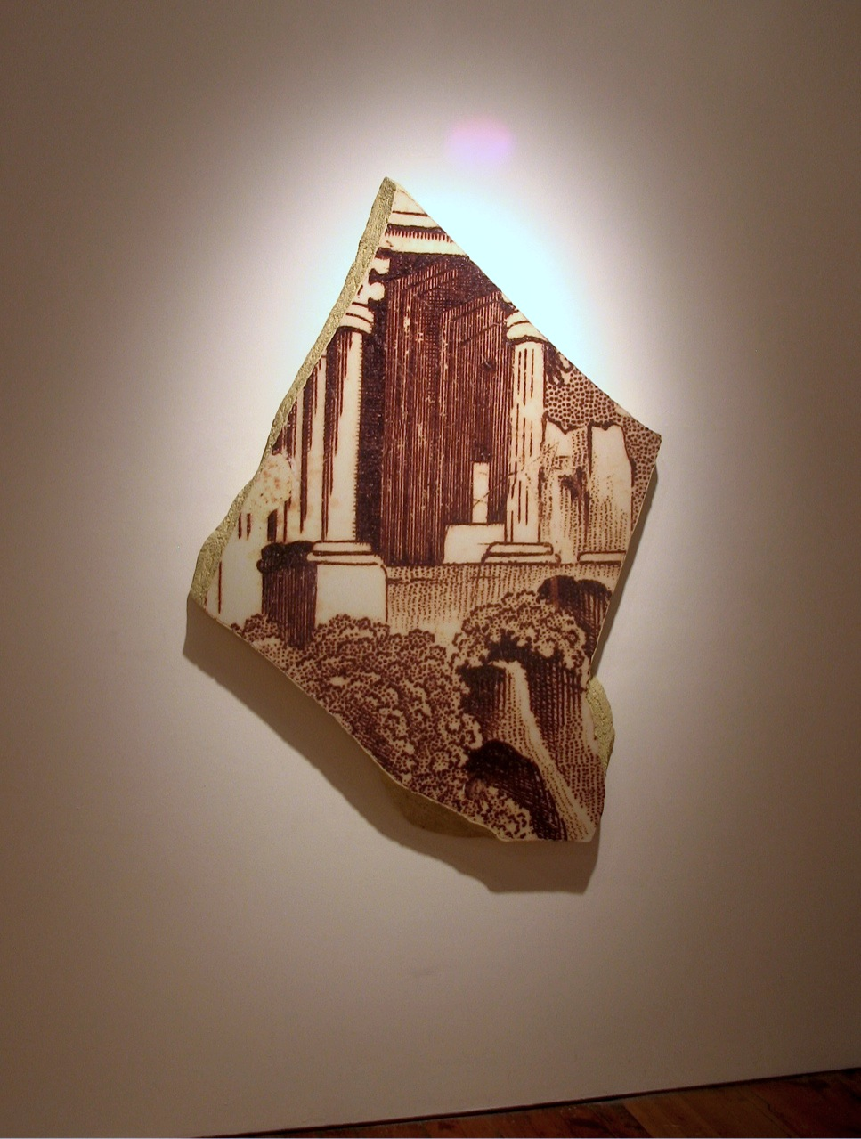Classical Folly Shard  Photo, mixed media  173 x 122 x 8 cm,  2008 - 09