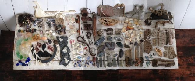 Irons  NL driftwood, iron, mixed media