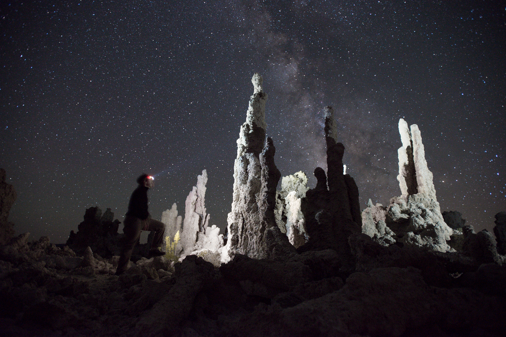 Self Portrait at Mono Lake under a Milky Way