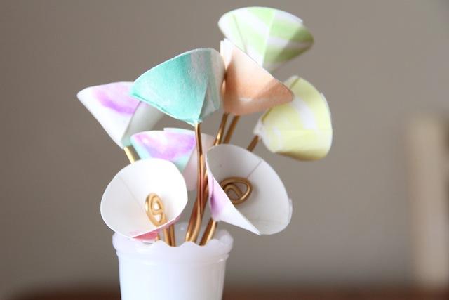 Diy Watercolor Paper Flowers And We Play Diy For Kids