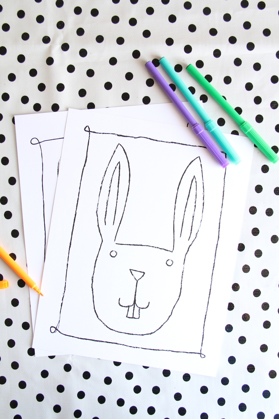 Printable easter kids coloring pages