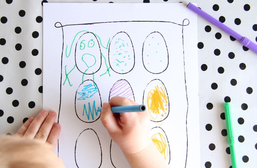 Printable kids coloring pages for Easter!