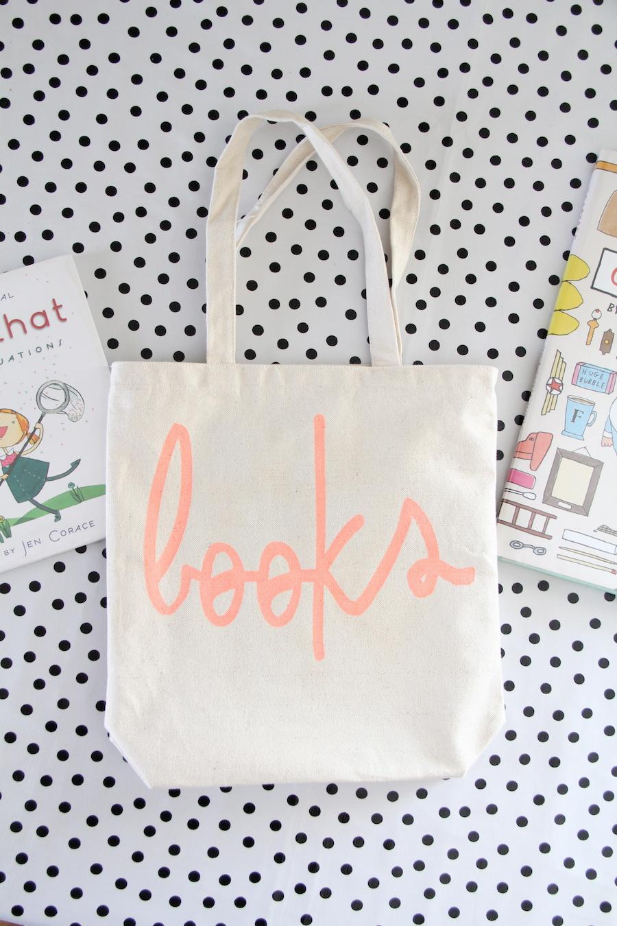 DIY book tote for kids
