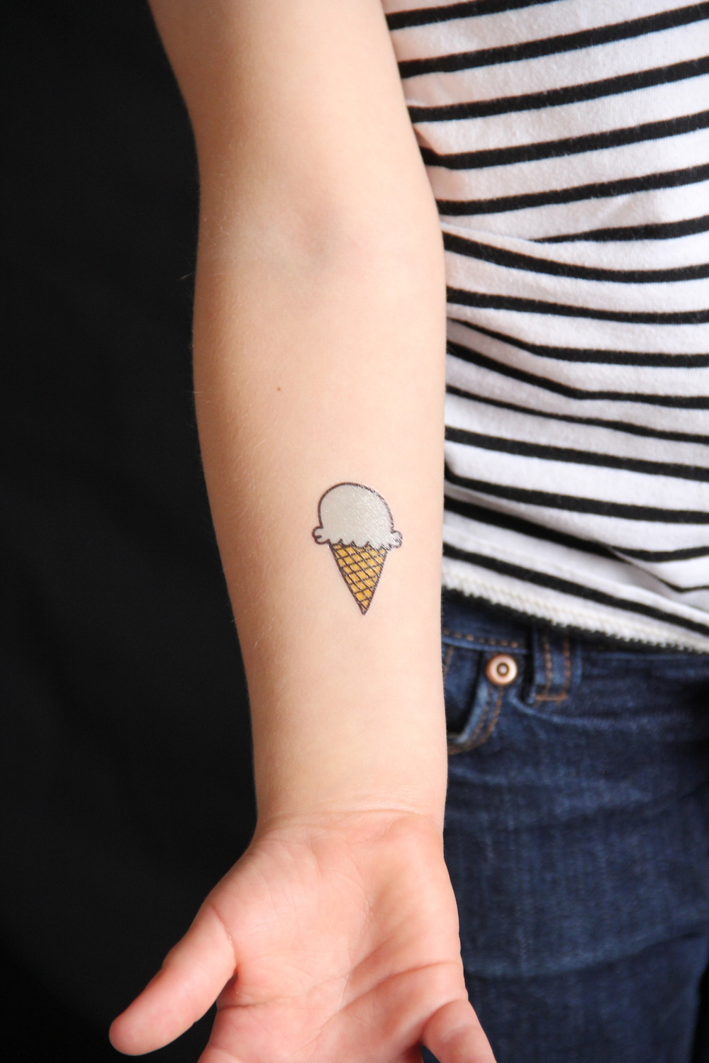 Ice cream tattoos - free printable!