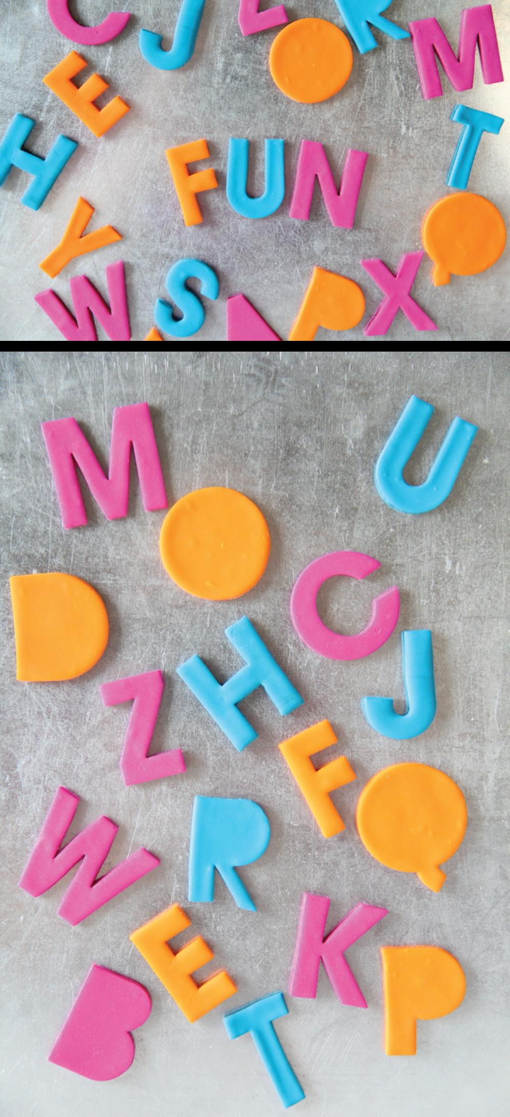 DIY alphabet magnets