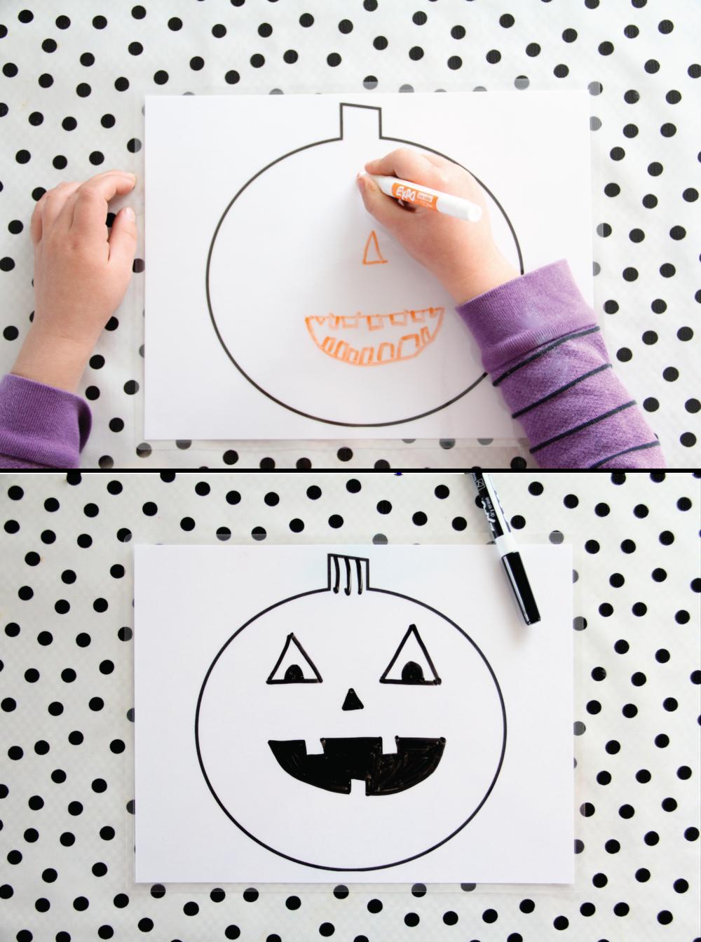 Printable dry erase pumpkin