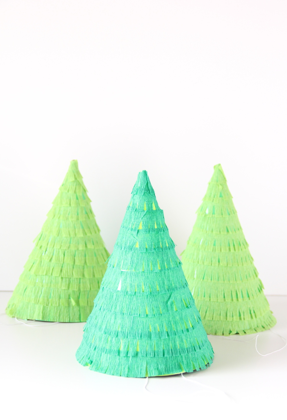Christmas Party Hat Ideas Part - 18: DIY Christmas Tree Party Hats | And We Play