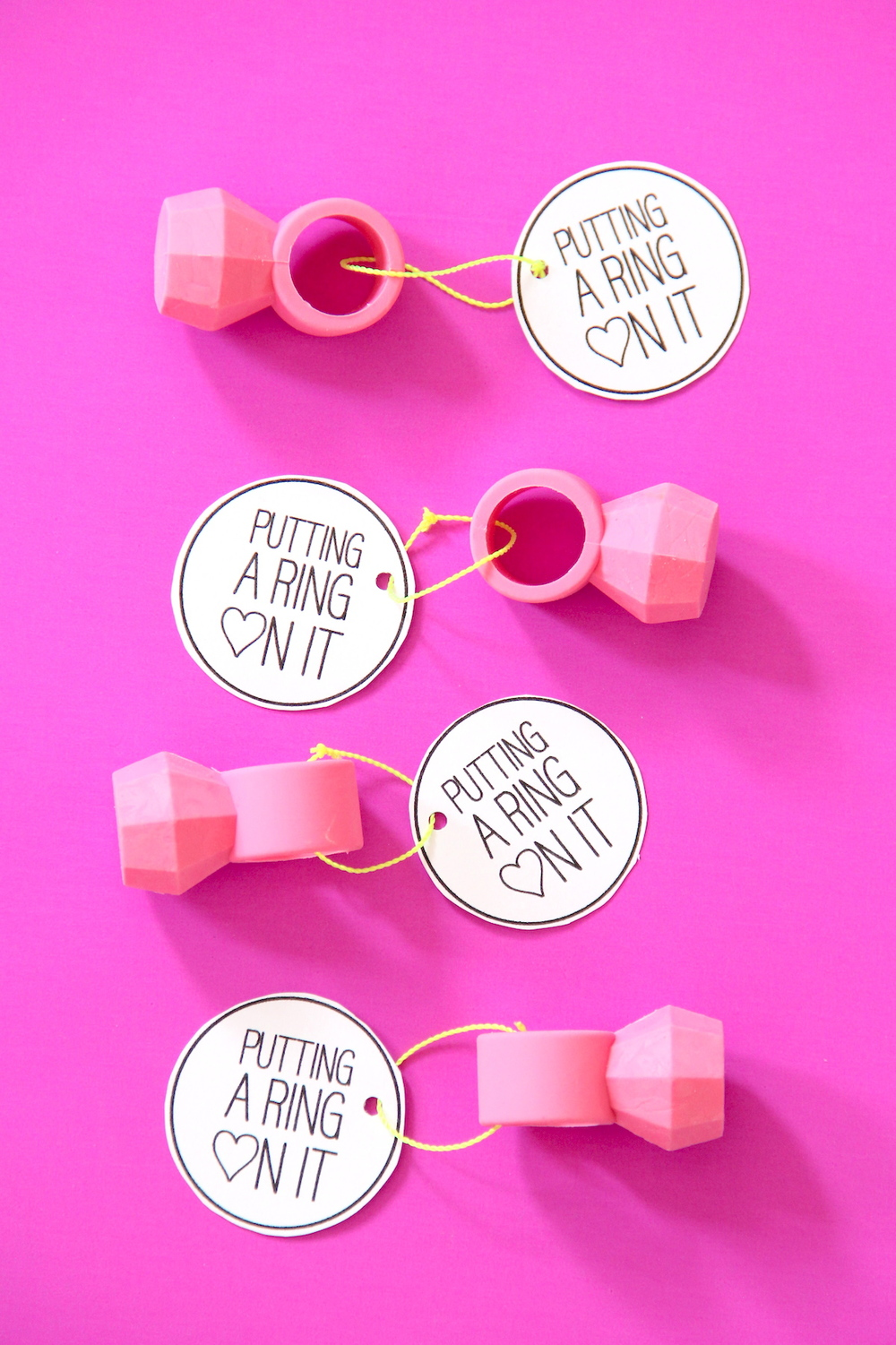 Printable ring valentines!   And We Play