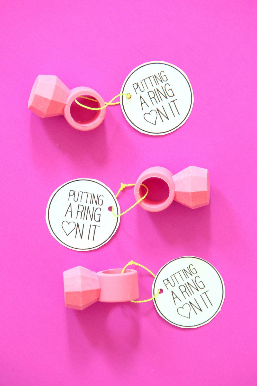 Ring valentine printables | And We Play