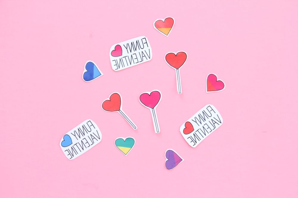Valentine temporary tattoos | And We Play