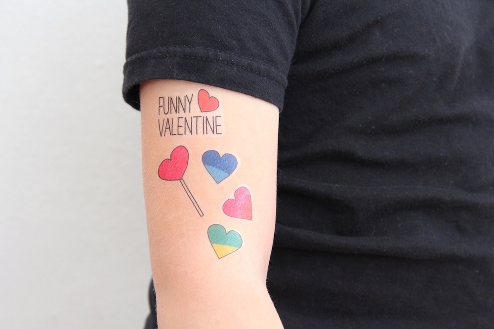 Printable Valentine temporary tattoos | And We Play