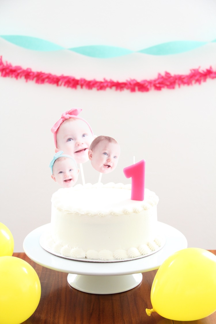 BABY BIRTHDAY CAKE TOPPERS And We Play DIY For Kids