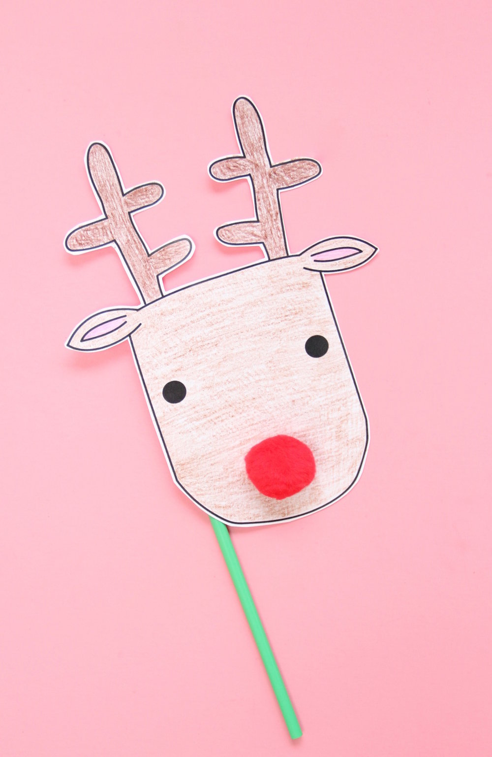 DIY printable reindeer mask | And We Play
