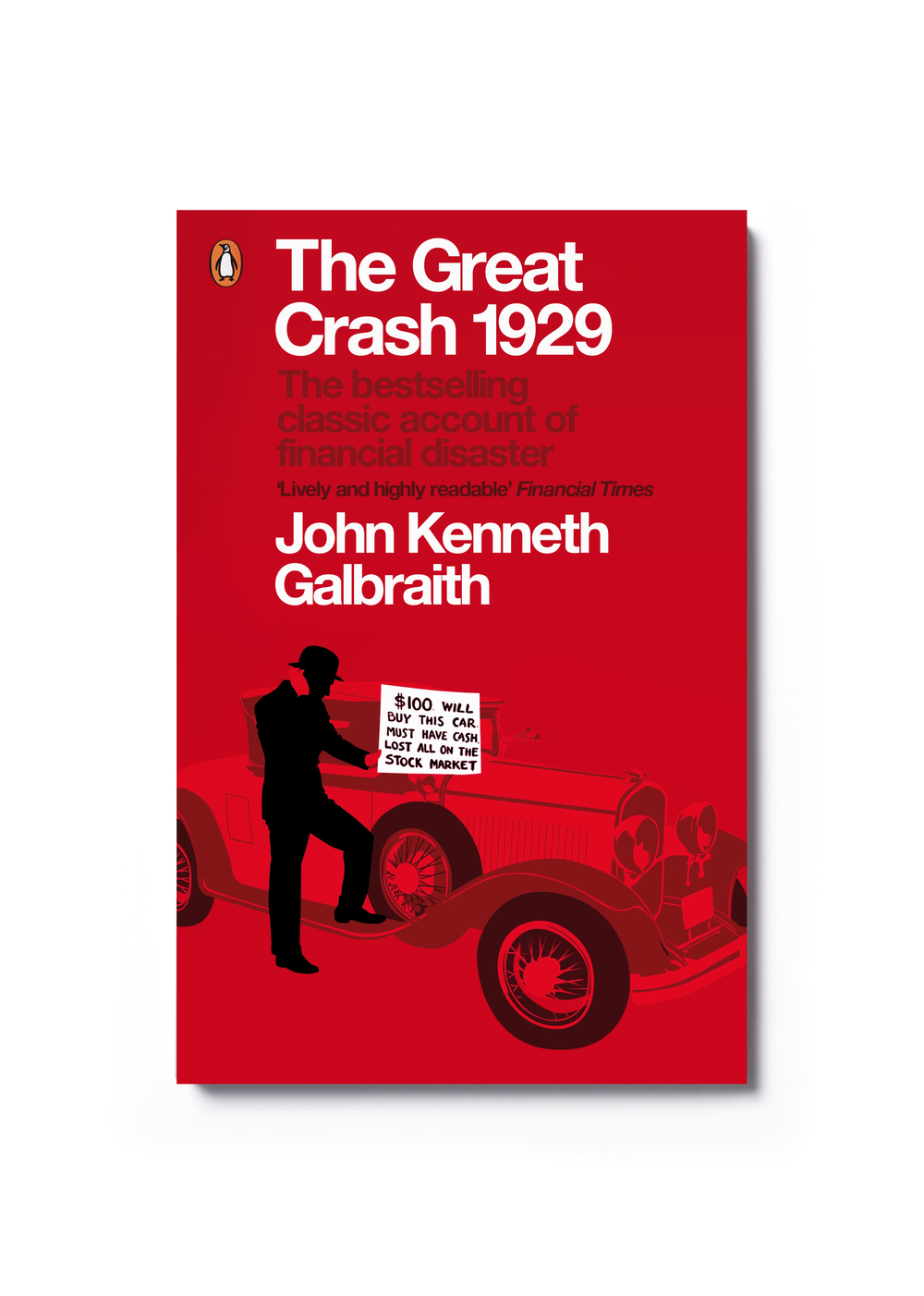 The Great Crash by John Kenneth Galbraith - Design & illustration: Jim Stoddart