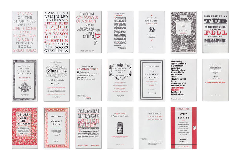 Penguin Great Ideas Vol. I - Art Direction: Jim Stoddart Design: David Pearson Phil Baines Catherine Dixon Alistair Hall