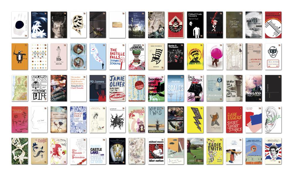 Penguin 70 - Art Direction: Jim Stoddart (x 35) John Hamilton (x 35) Design/illustration: 70 talented creatives