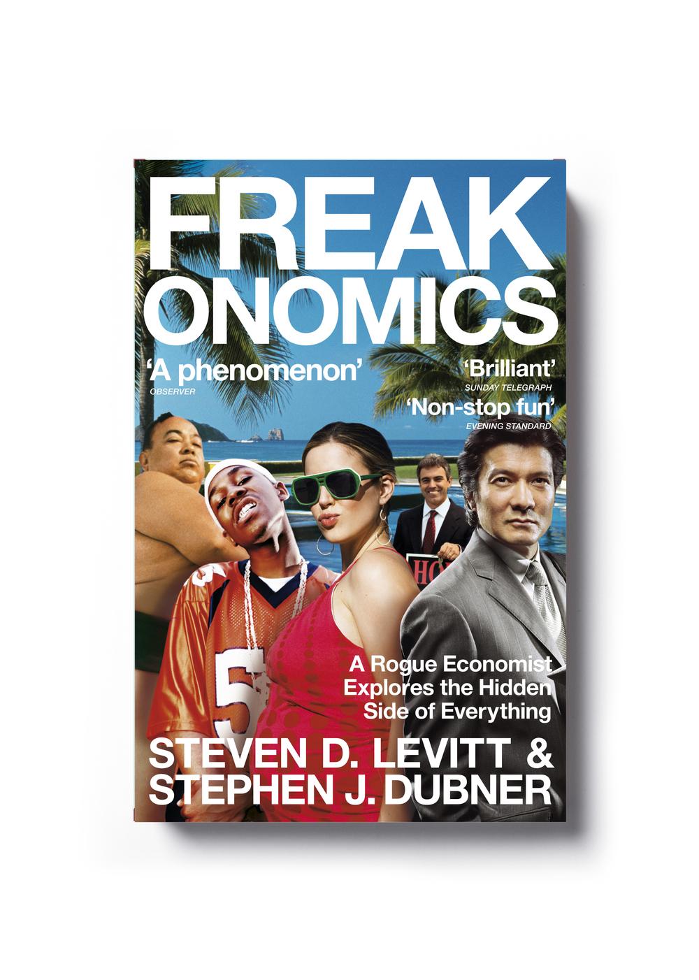 Freakonomics by Steven D. Levitt & Stephen J. Dubner (paperback) - Art Direction: Jim Stoddart Design: Root Design