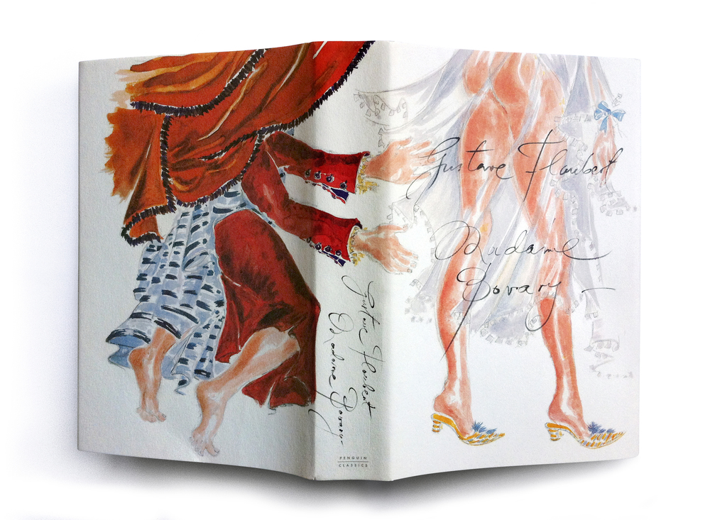 Madame Bovary by Gustave Flaubert (Penguin Classics 60th anniversary hardback) -  Art & lettering: Manolo Blahnik