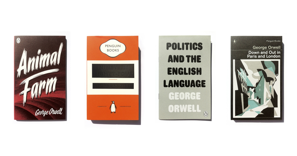 Penguin Great Orwell series - Art Direction:Jim Stoddart Design:David Pearson