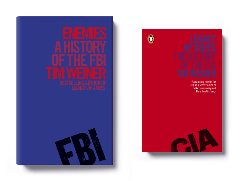 Enemies & Legacy of Ashes by Tim Weiner - Art Direction: Jim Stoddart Design: Mike Dempsey