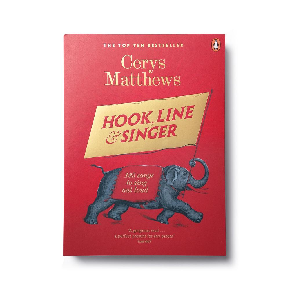 Hook, Line & Singer by Cerys Matthews (paperback edition) - Design: Jim Stoddart
