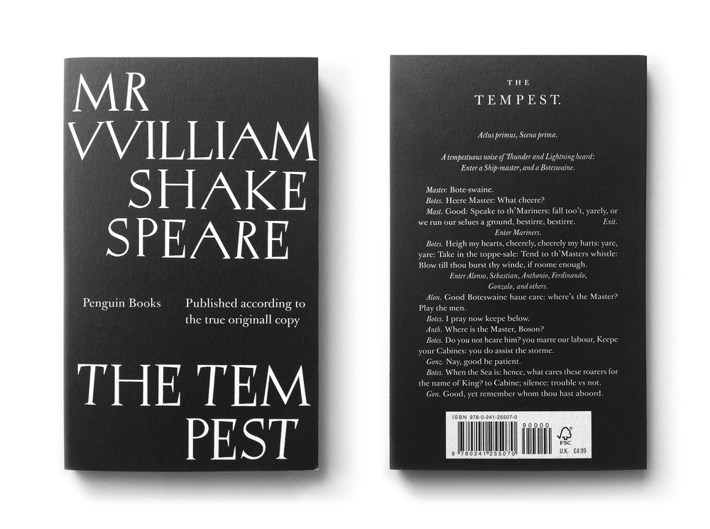 The Tempest ('Published according to the True Originall copy) - Art Direction: Jim Stoddart Design: David Pearson