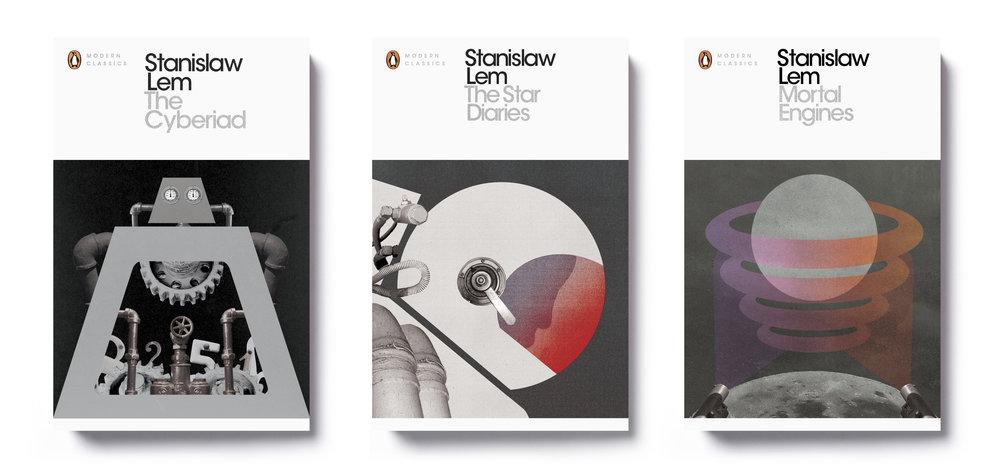 Penguin Modern Classics Stanislaw Lem x 3 - Design: Jim Stoddart Illustration: Hayley Warnham