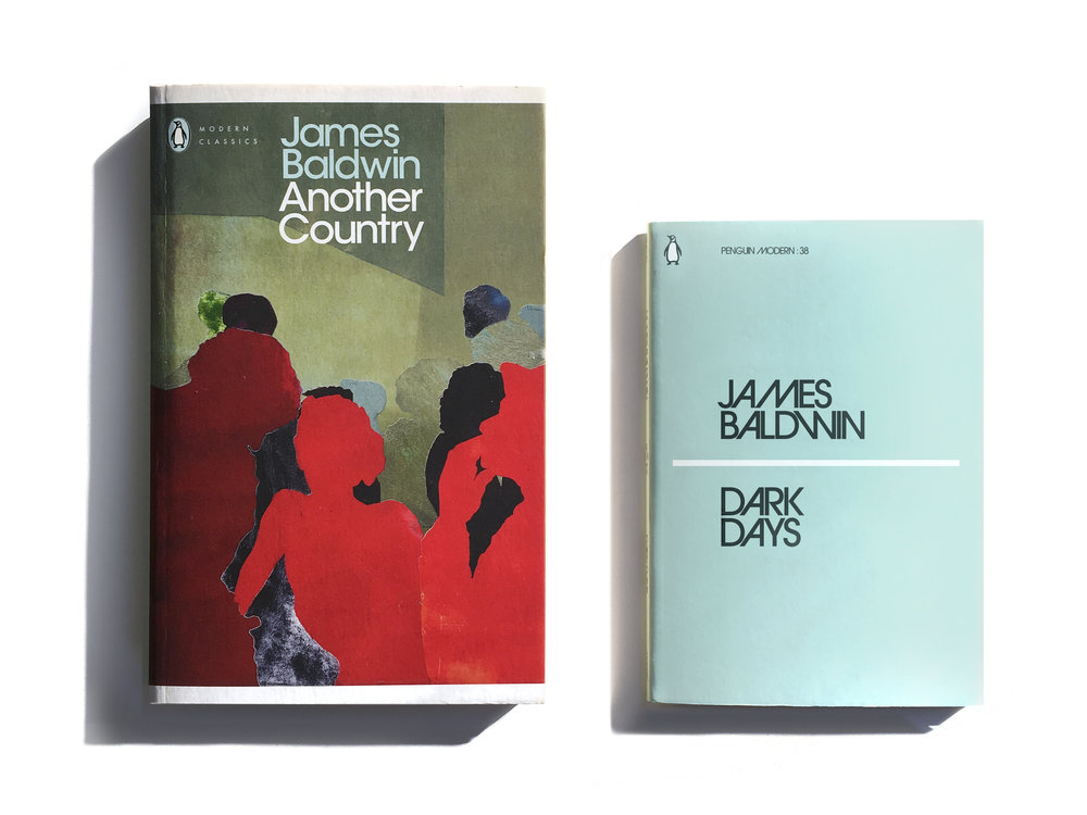 Penguin Modern Classic beside a regular Penguin Modern  -  Series Art Direction & Design: Jim Stoddart