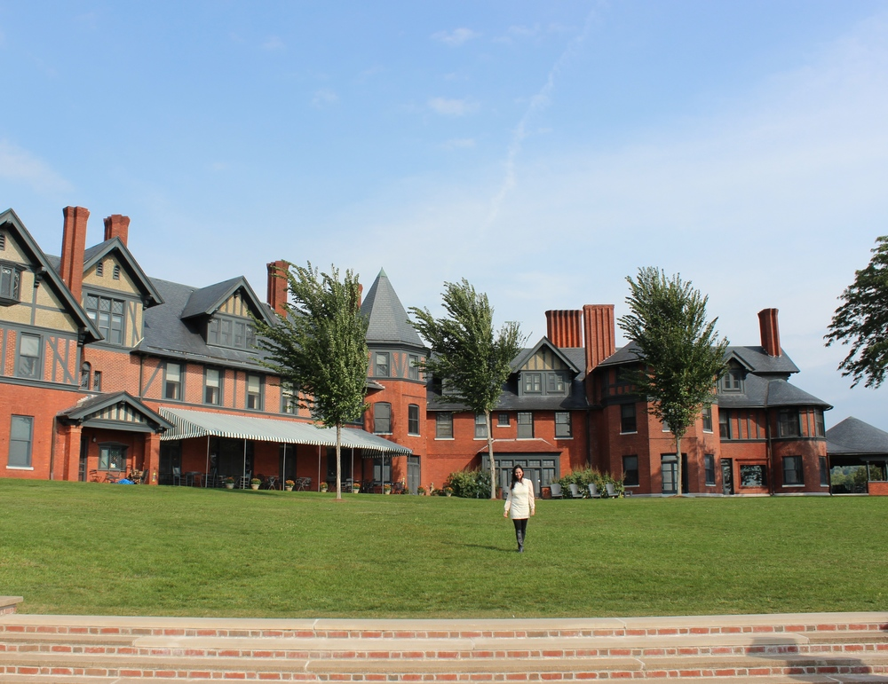 The Inn. (my summer home.  :)  It's actually the former family residence of the Webb & Vanderbilt family.