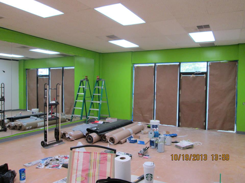 A fresh coat of green!  Is there another color you could use for an Irish cultural center?