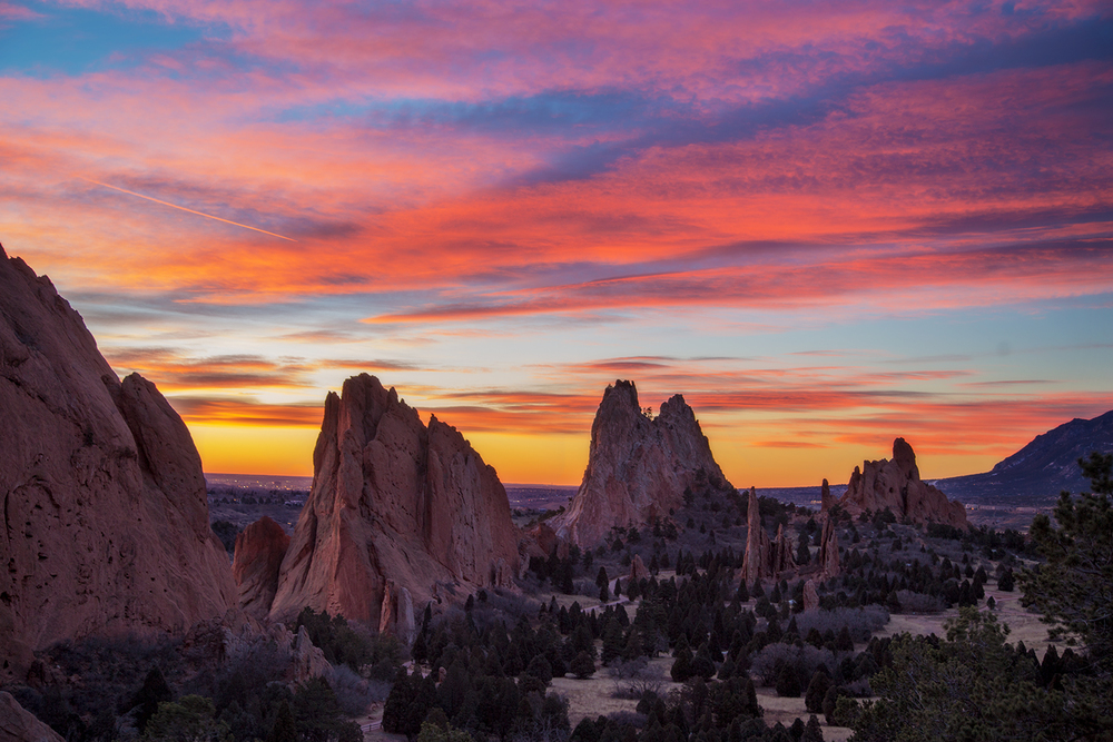 """Sunrise at Garden of the Gods"""