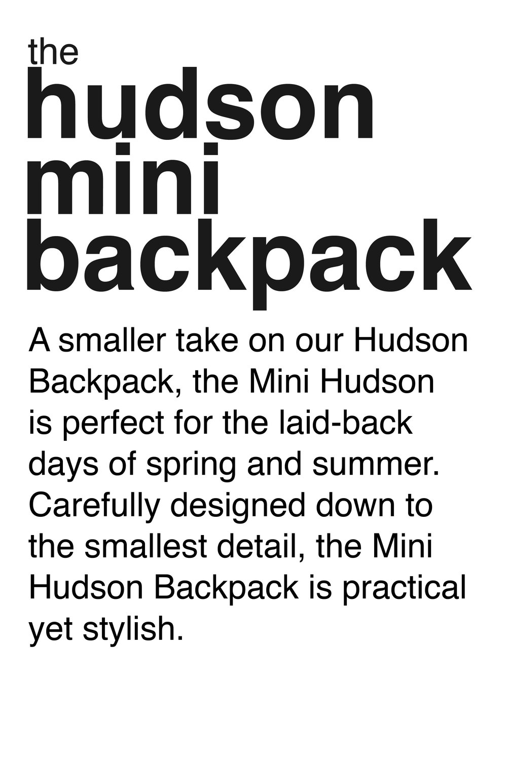 Spring-Collection-Hudson-Mini Backpack