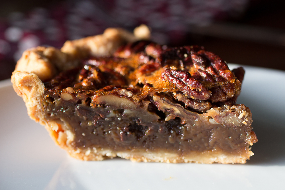 pecan pie with mini chocolate chips