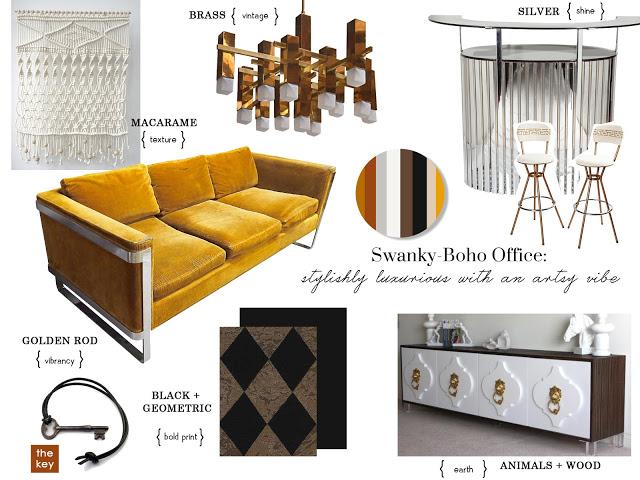 Swanky Boho Workspace