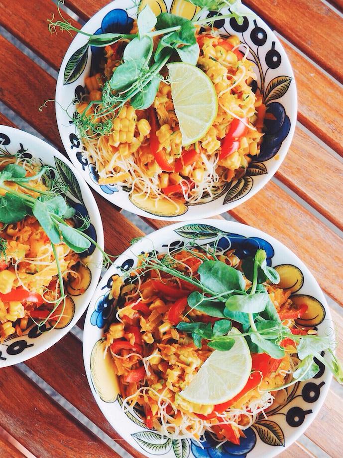 Vegan Rainbow Pad Thai