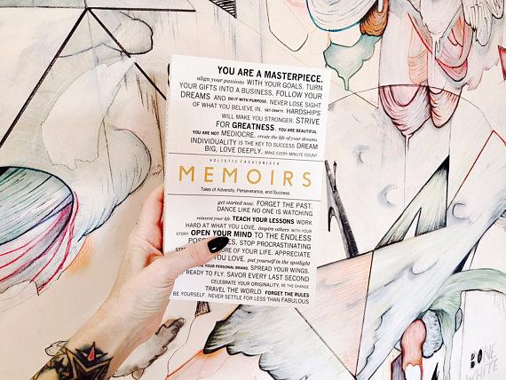 MEMOIRS // A COLLABORATIVE BOOK