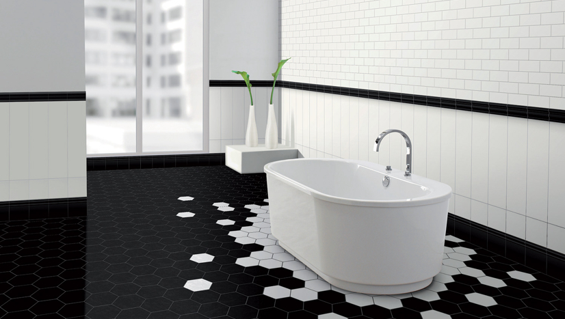 Traditional Bathroom Floor Tiles