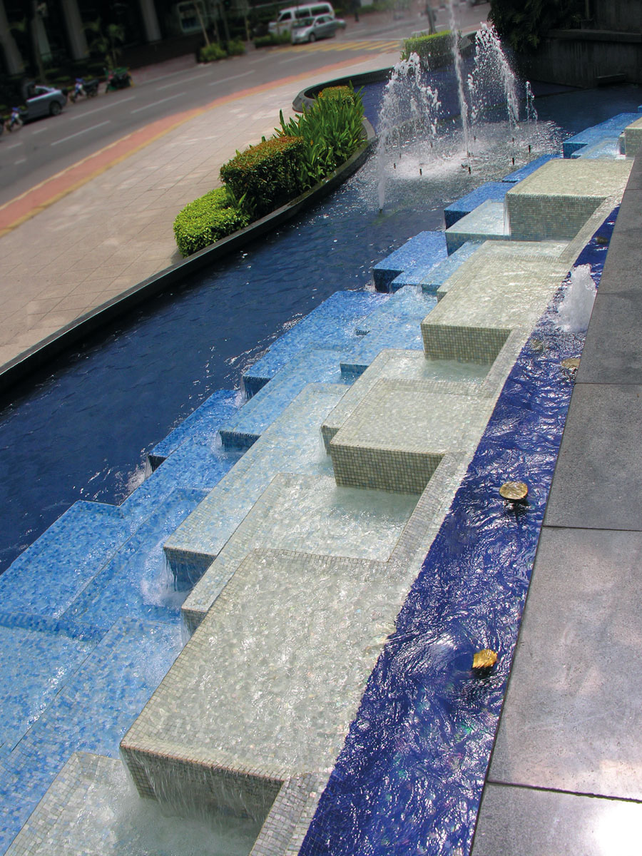 Trend glass mosaics for pools